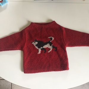 Husky puppy old navy fleece shirt